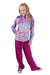 Bubble Hoodie + Pant Set - Turquoise Rainbow Tie Dye and Magenta