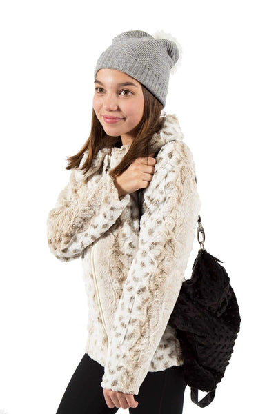 Faux Fur Jacket - Leopard
