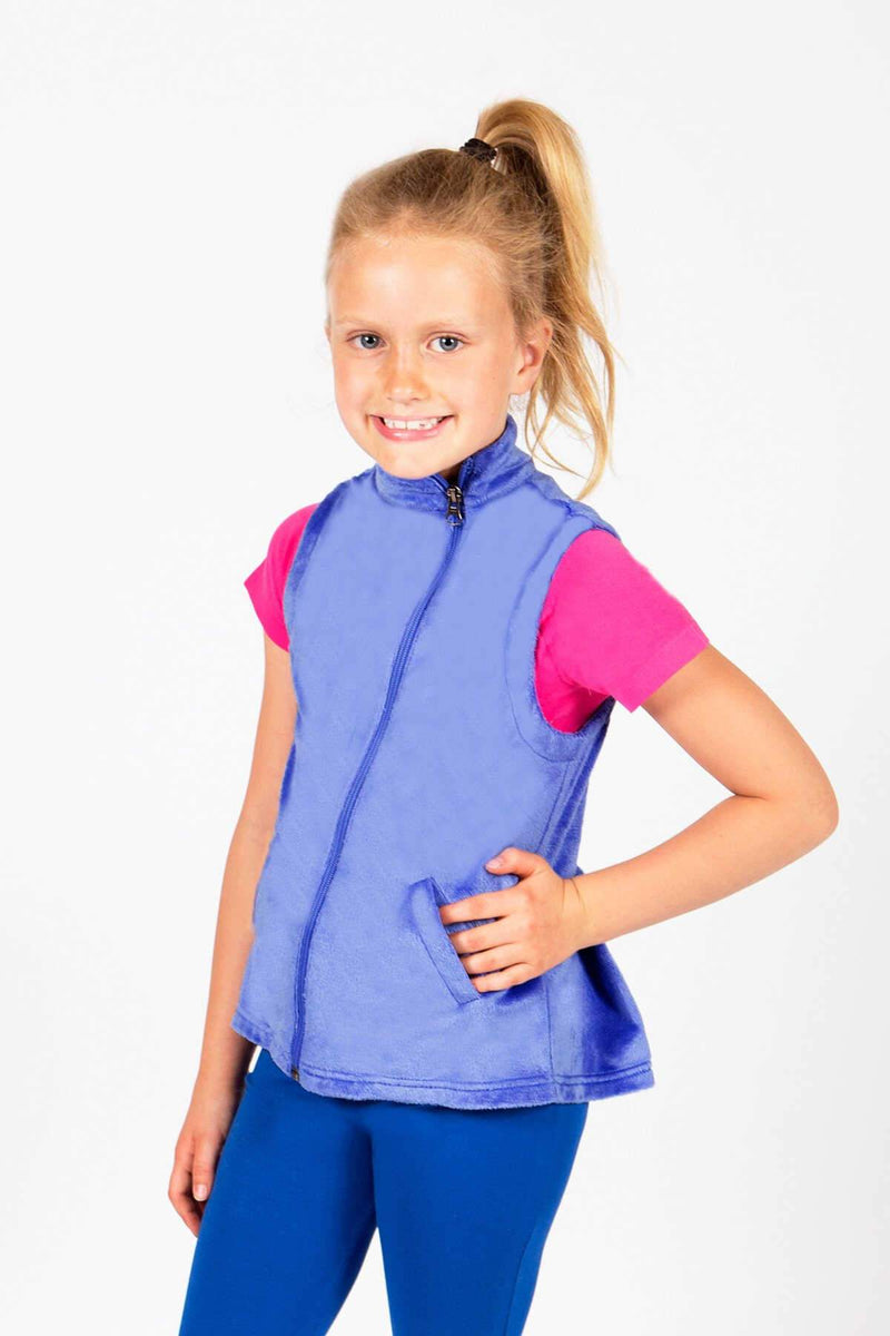 Girls Minky Vest - Periwinkle  by Limeapple