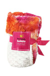 Bubble Blanket - Pink Orange Tie Dye Faux Fur and White