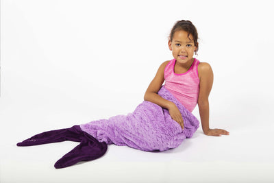 Minky Mermaid Sleeping Bag - Purple / Dark Purple