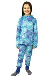 Bubble Hoodie + Jogger Set - Navy Teal Tie Dye
