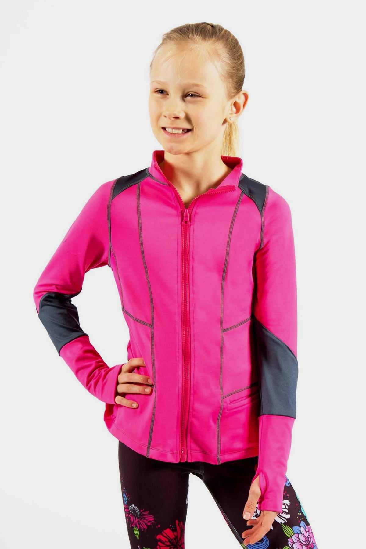 Activewear Jacket - Fuchsia/Charcoal