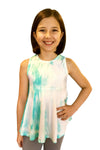 Adelide Top - Aqua White