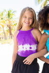 Alannie - Purple Tie Dye Halter Top