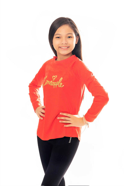 Arabella Long Sleeve Sequin Top - Orange