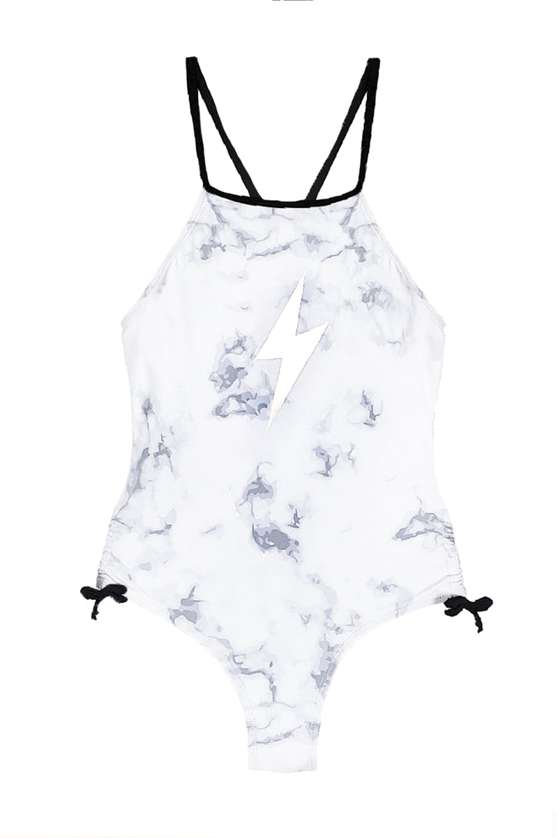 Ashlyn - Tie Dye Lightning Foil One Piece Swimsuit