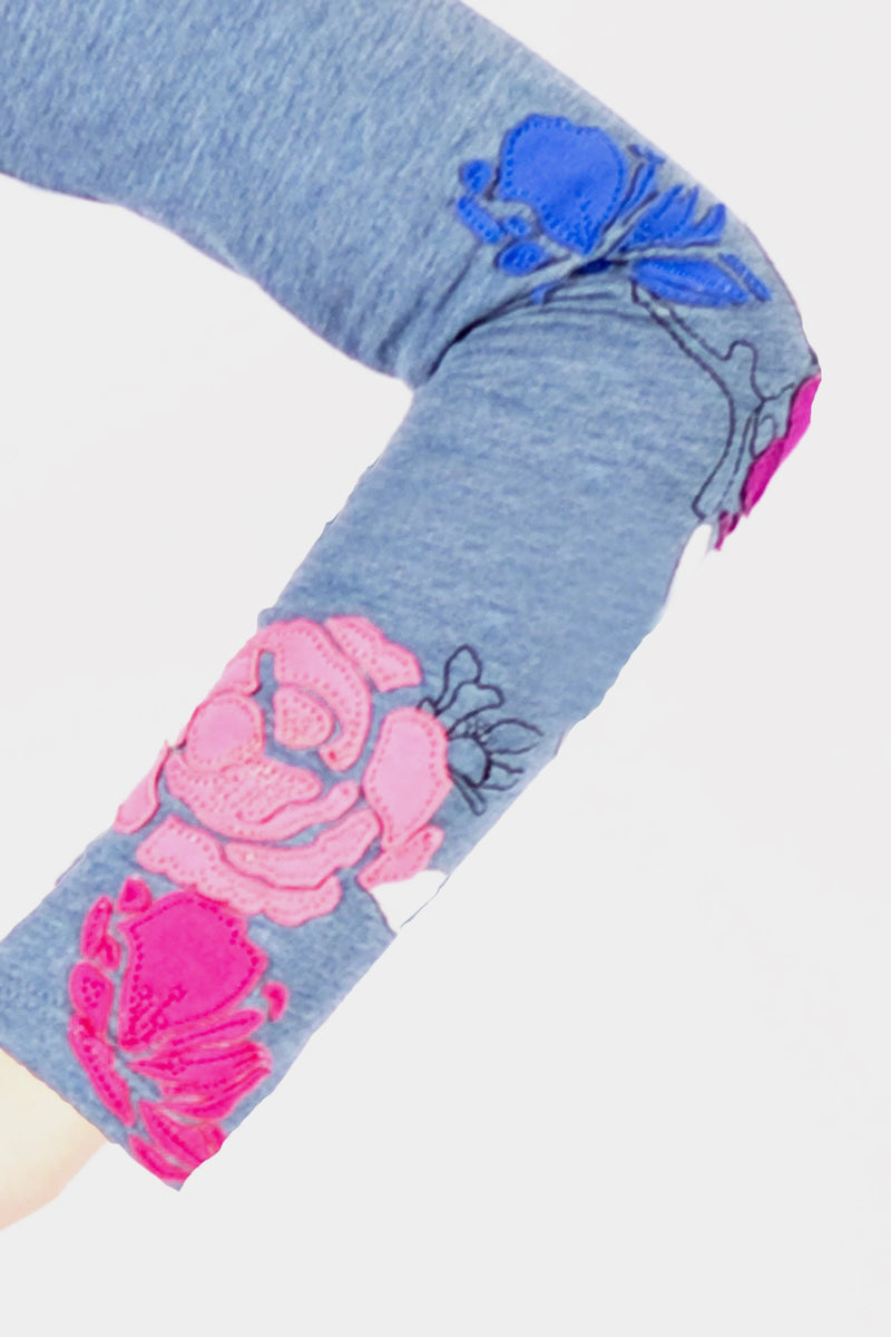 Aurelia - Floral Zip Up Sweatshirt