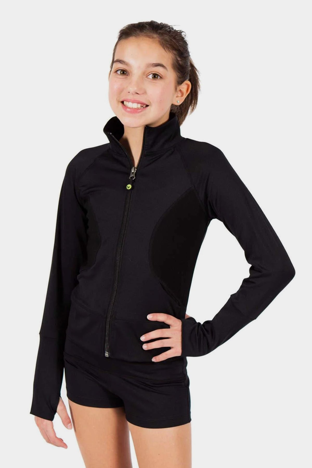 Basic Activewear Zip Up Jacket