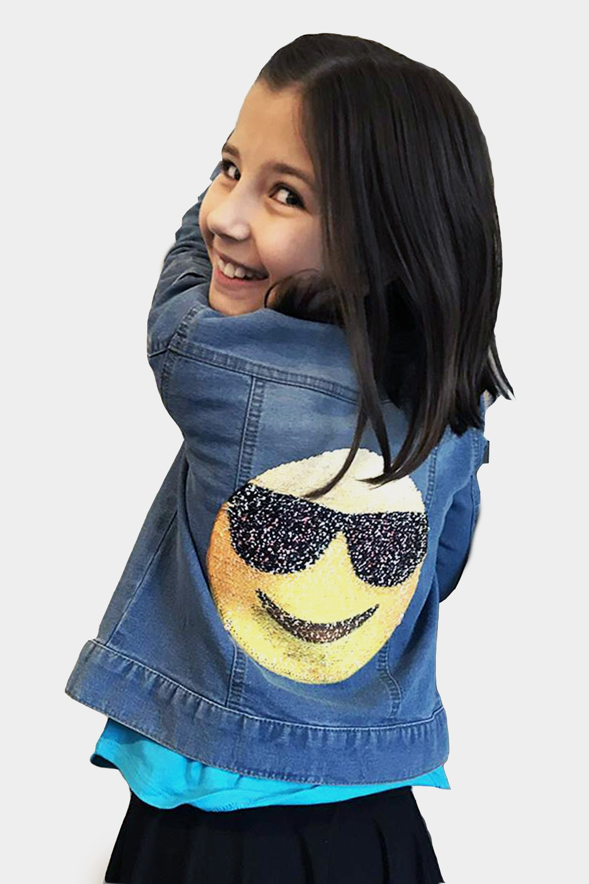 Brook - Reversible Sequin Emoji Jean Jacket