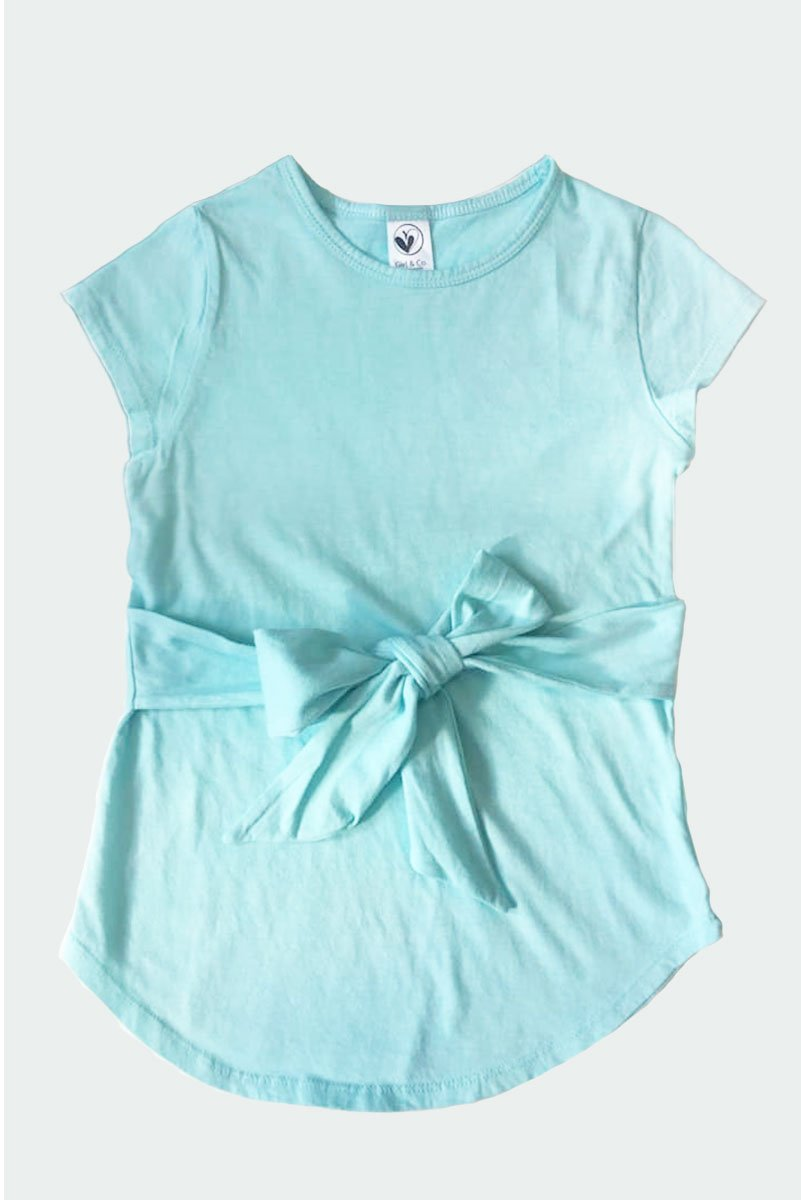 BRUNA - TURQUOISE BOW TIE TOP