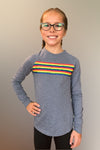 Claudi - Rainbow Stripe Long Sleeve Top