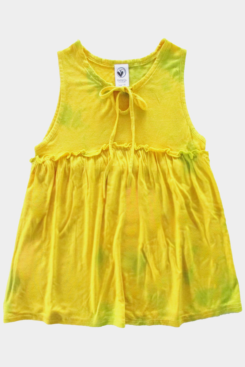 Danita - YELLOW LIME TIE DYE TANK TOP