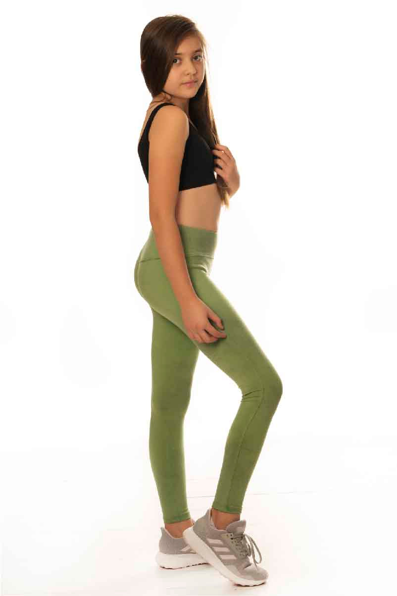 Essential Leggings - Olive Green TIE DYE