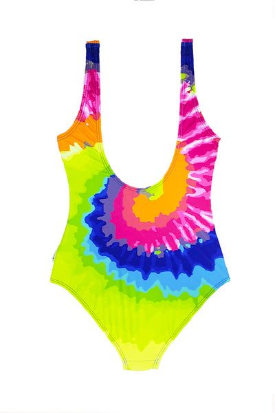 Fern - Rainbow Tie Dye One Piece Swimsuit