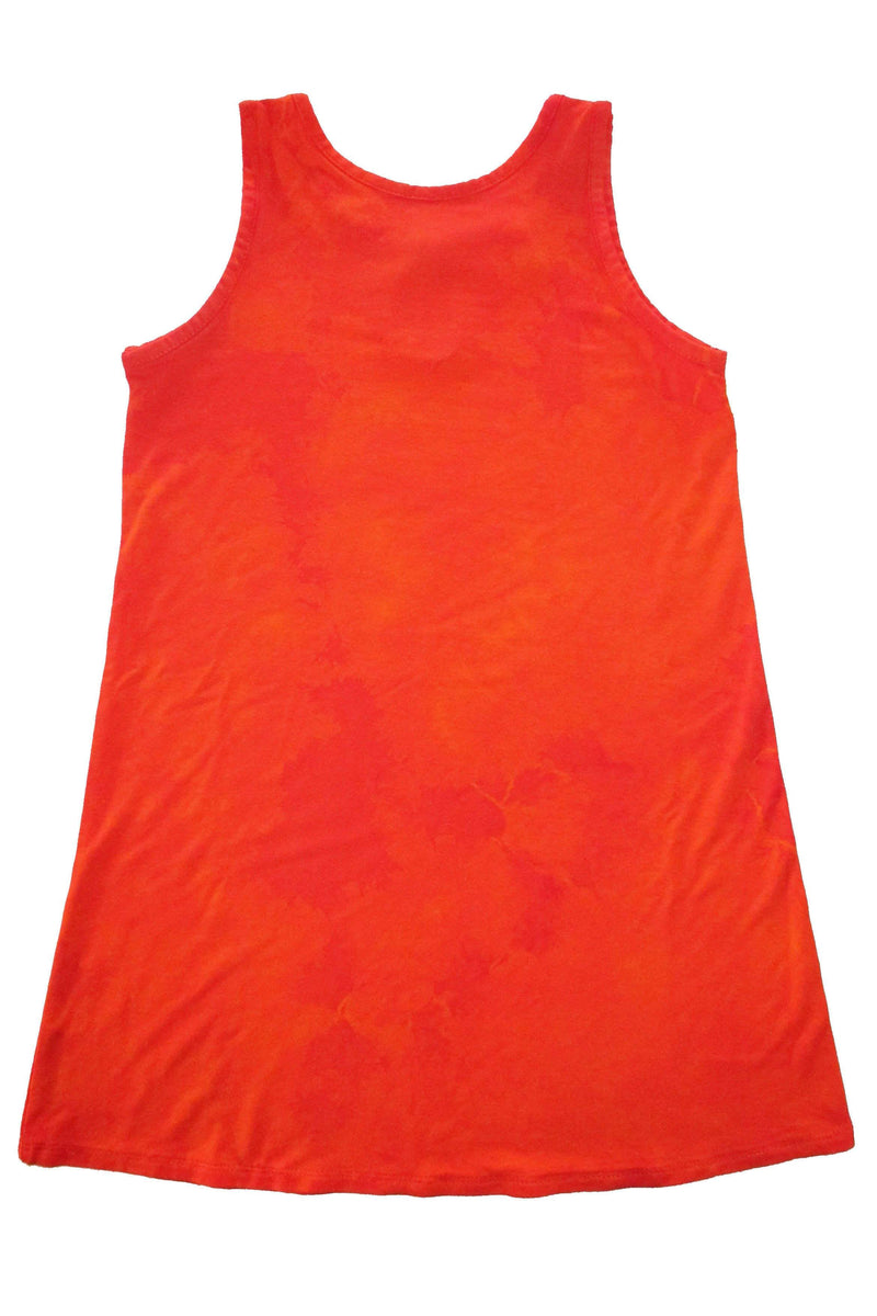 Gemma - Orange Tie Dye Tank Dress