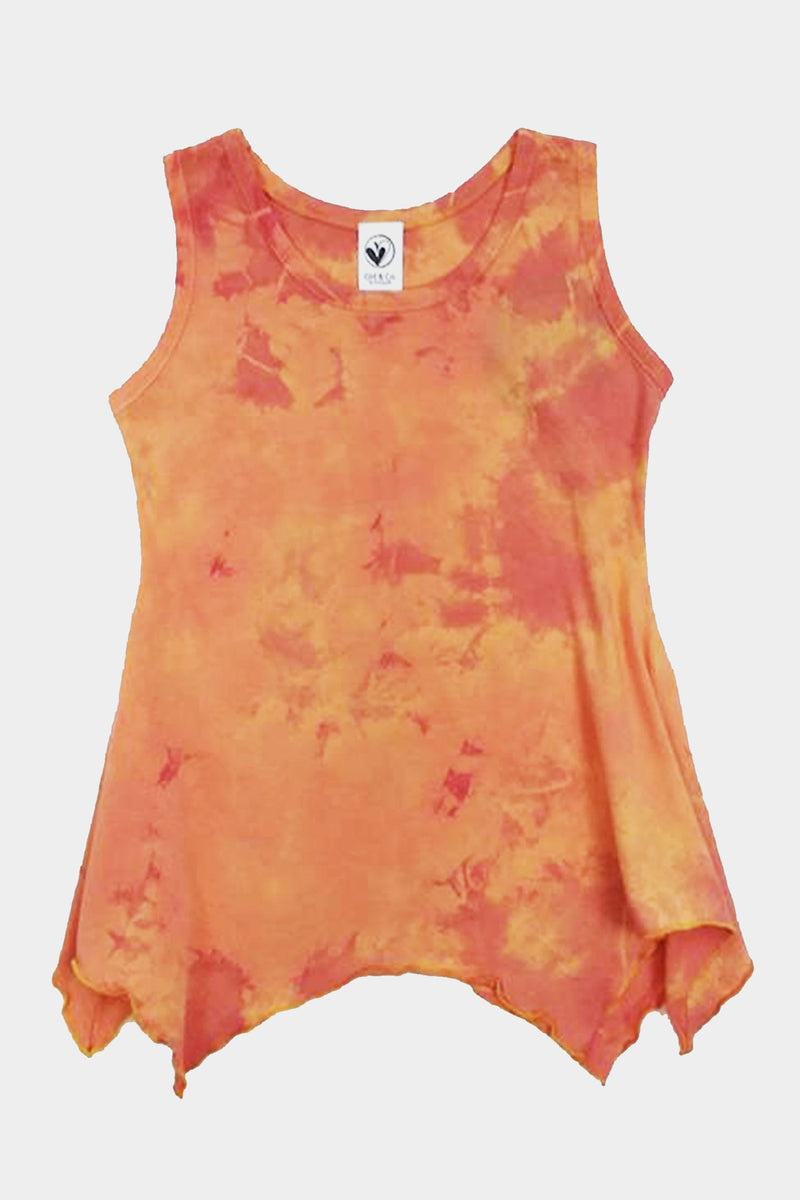 Gloria - ORANGE TIE DYE TANK TOP