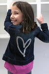 Hana - Sequin Heart Jean Jacket