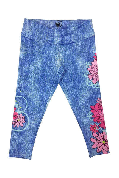 JULIET - FLORAL 'DENIM' PRINT LEGGING
