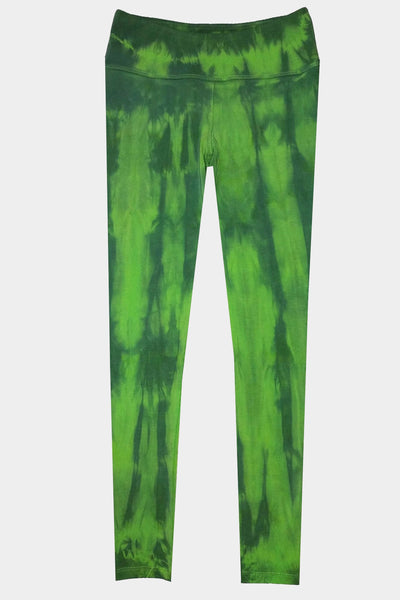 Knit Leggings - Lime Tie Dye