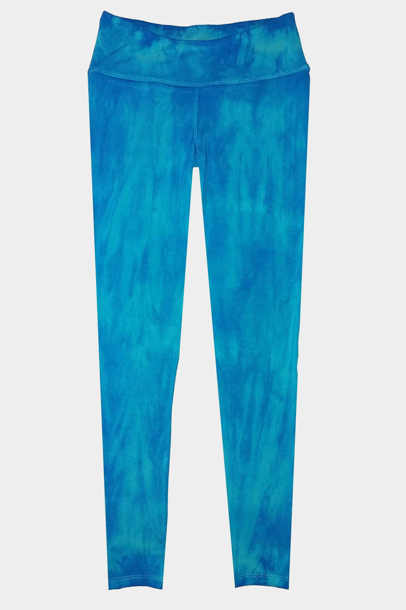 Knit Leggings - Turquoise Blue TIE DYE