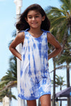 Lani Dress - Blue Tie Dye