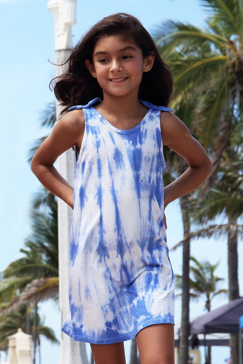Lani - Blue Tie Dye TANK DRESS