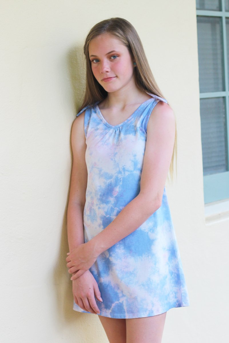 Lani - Multicolor Tie Dye Tank Dress