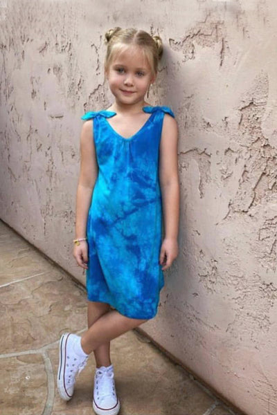 Lani - Turquoise Tie Dye Tank Dress