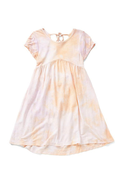 LILITH - CORAL TIE DYE T SHIRT DRESS