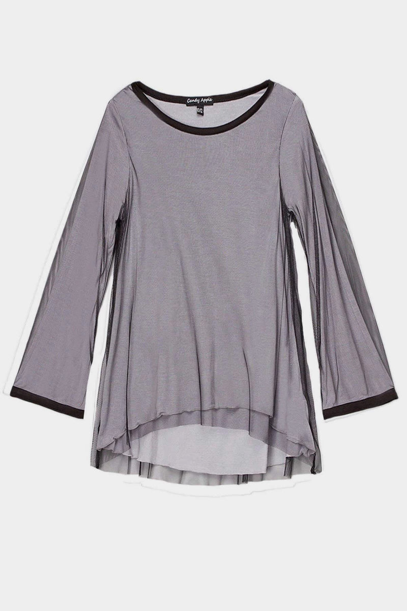 Marcie - MESH BELL SLEEVE TOP