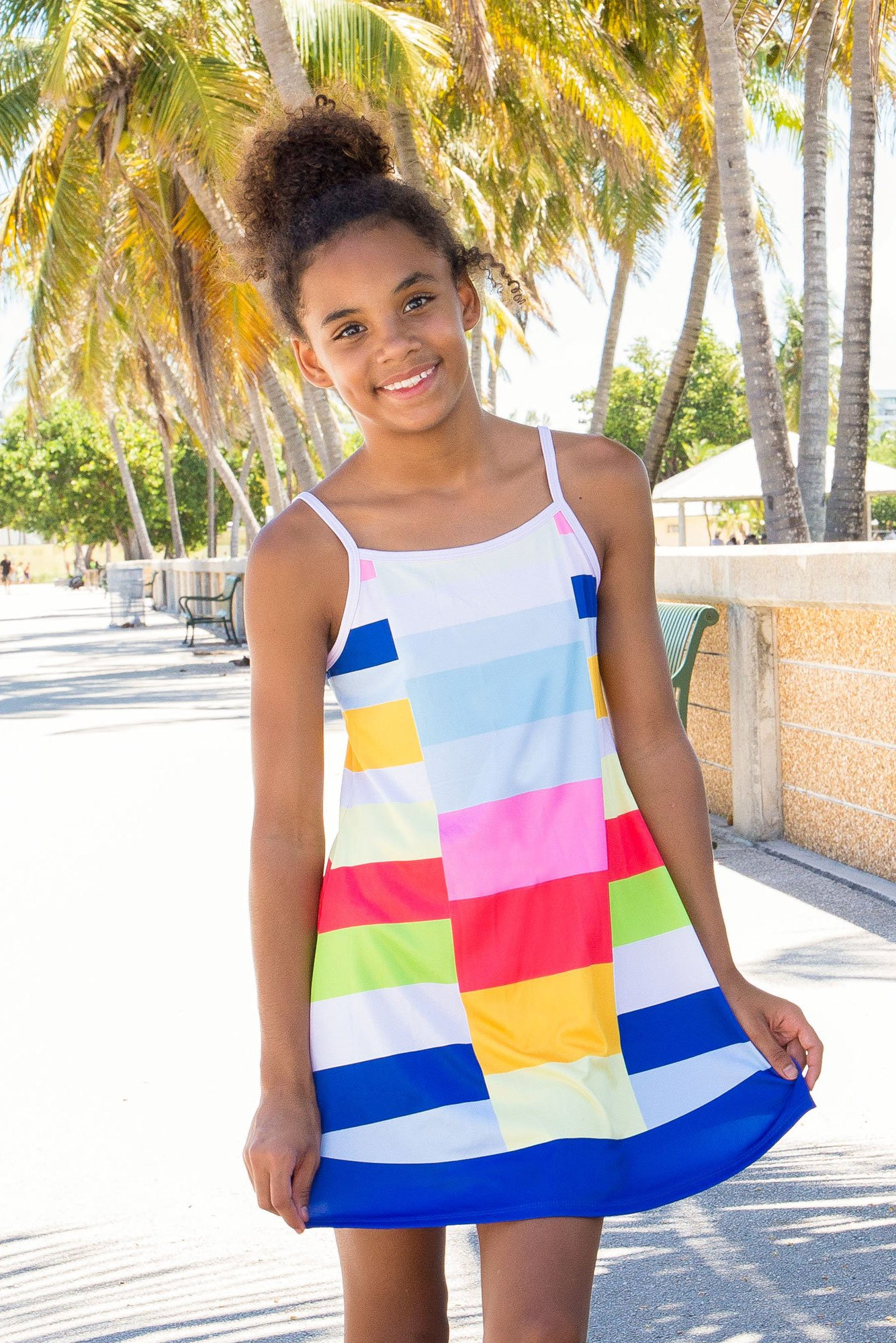 Mejia - Colorblock Rainbow Dress