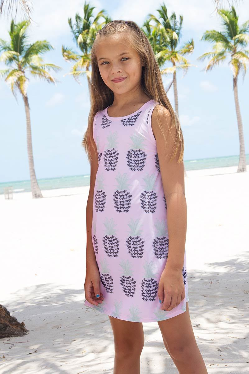 MELANI - PINEAPPLE PRINT DRESS