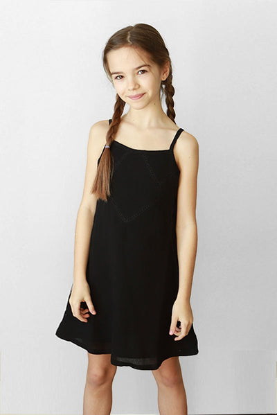 MERA - BLACK LACE TANK DRESS