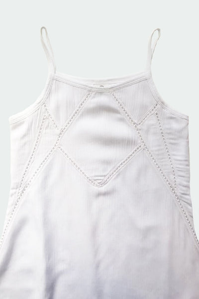 MERA - WHITE LACE TANK DRESS