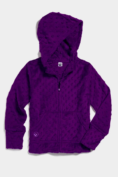 Minky Bubble Hoodie - Dark Purple
