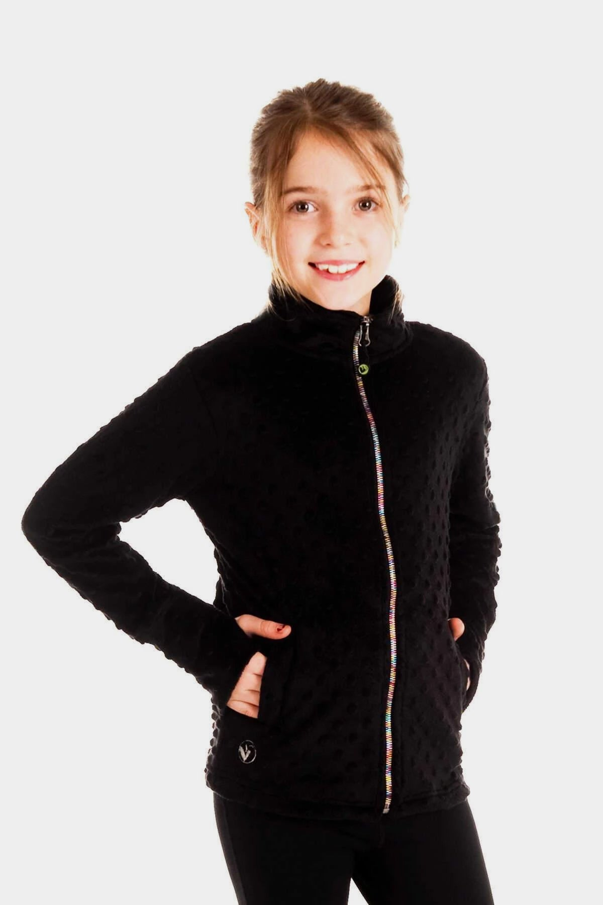 Minky Bubble Jacket - Black