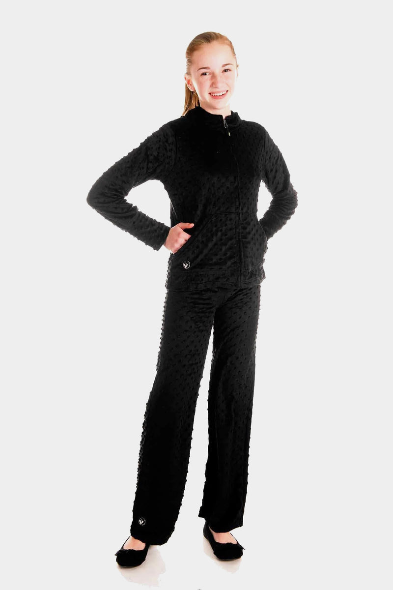 Minky Bubble Pant - Black
