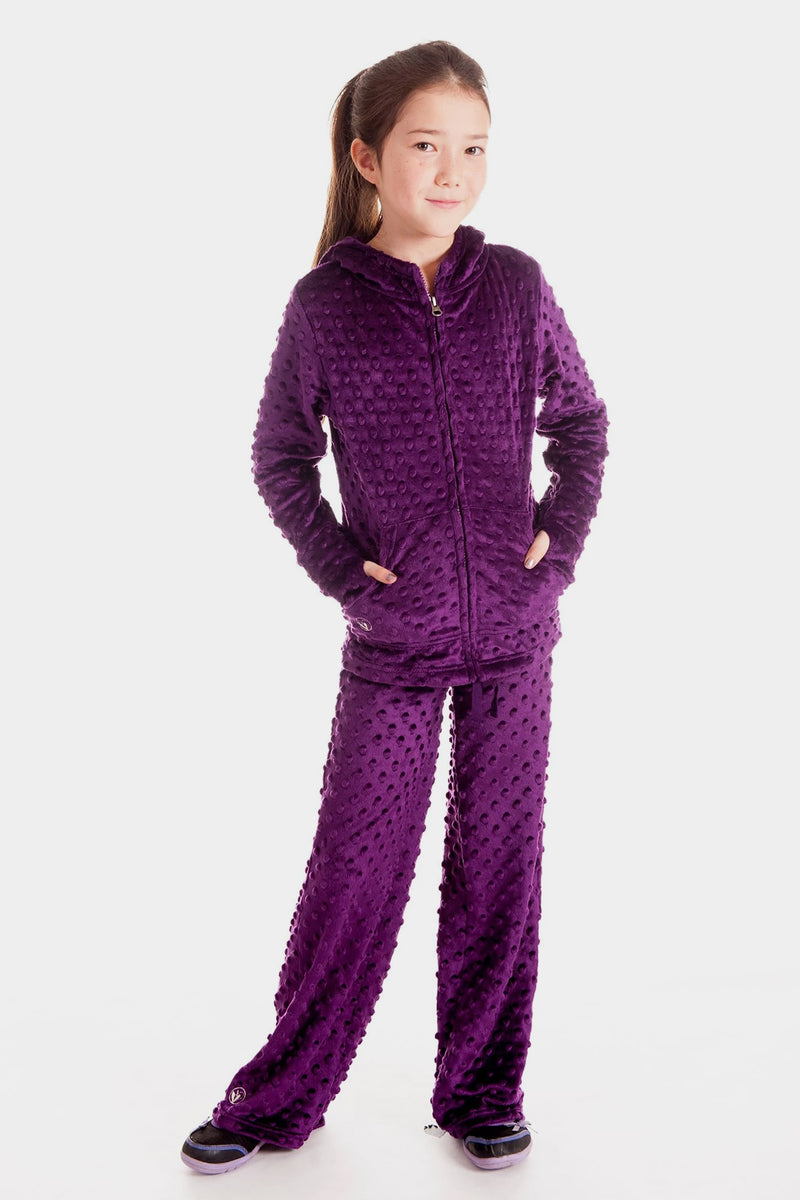 Minky Bubble Pant - Dark Purple
