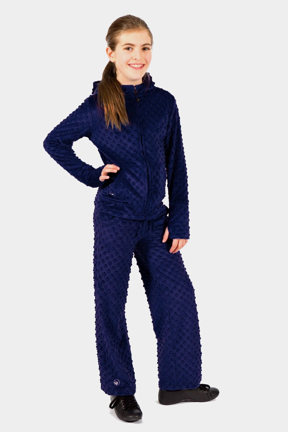 Minky Bubble Pant - Navy