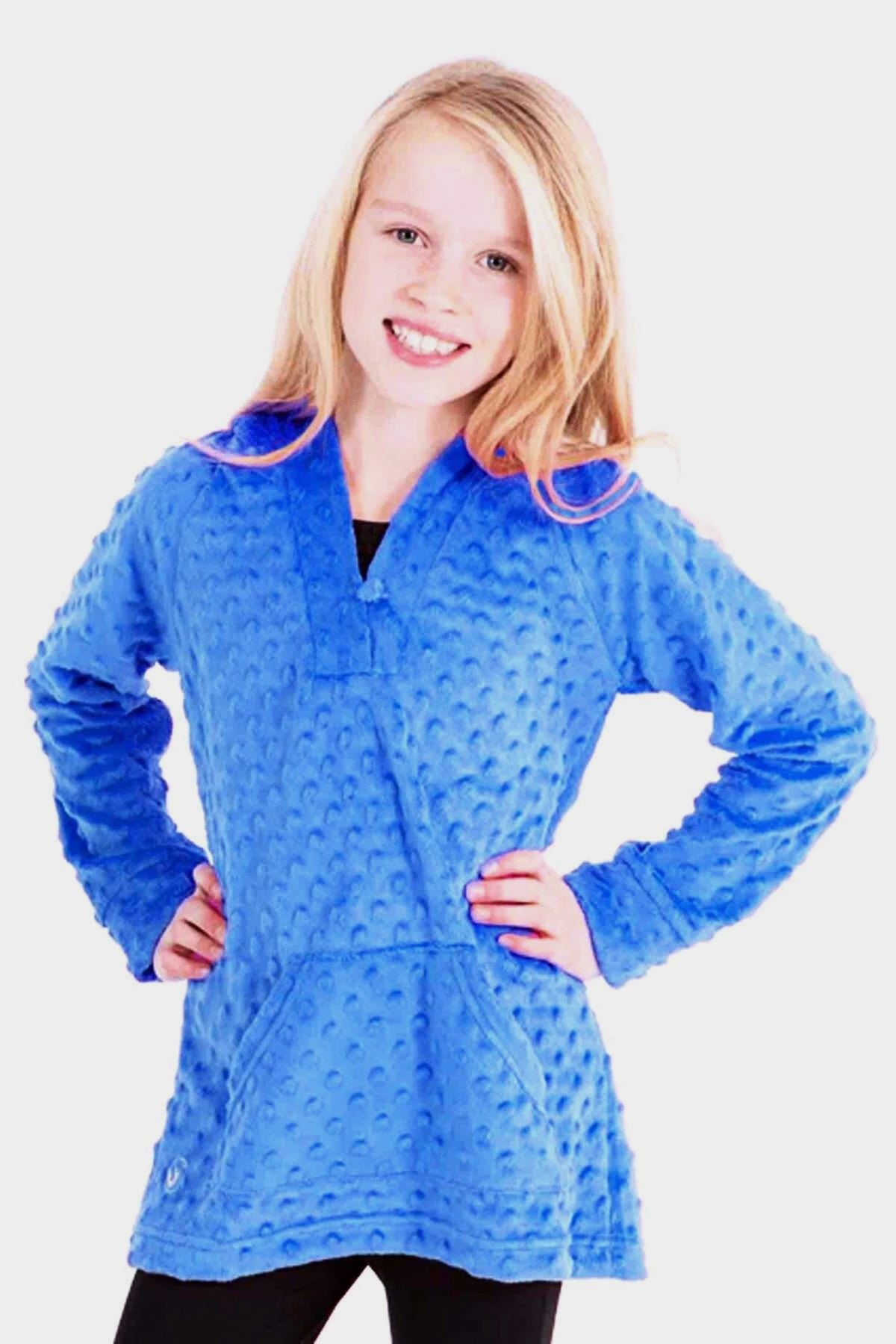 Minky Bubble Tunic - Blue