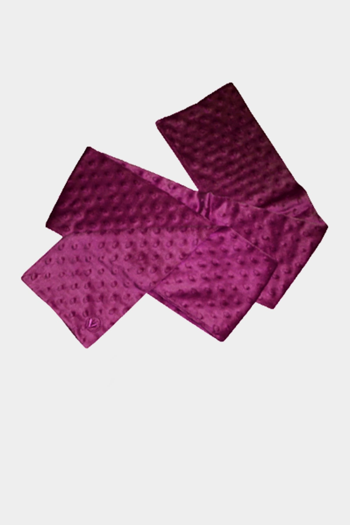 Minky Dot Bubble Scarf- Magenta
