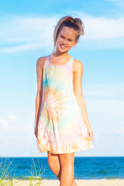 Nikita - Tie Dye Rainbow Swim Cover Up Dress