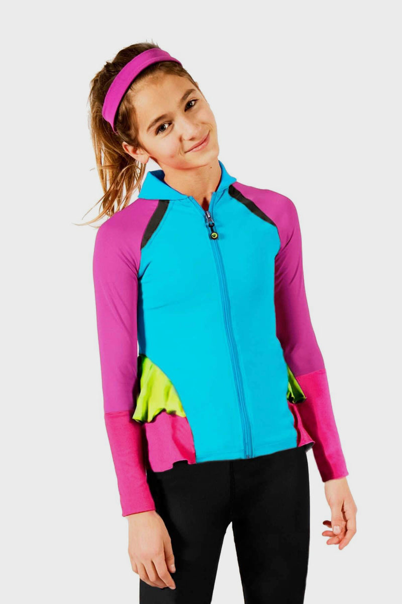 On The Run Activewear Ruffle Jacket