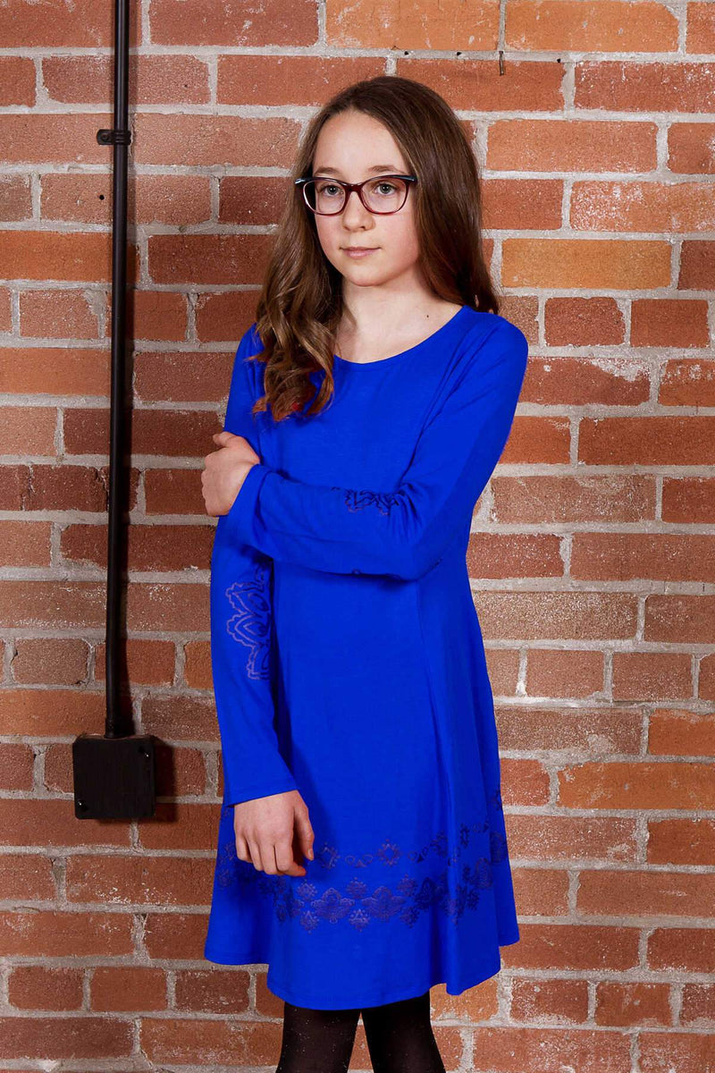 Promise - Blue A-line Dress