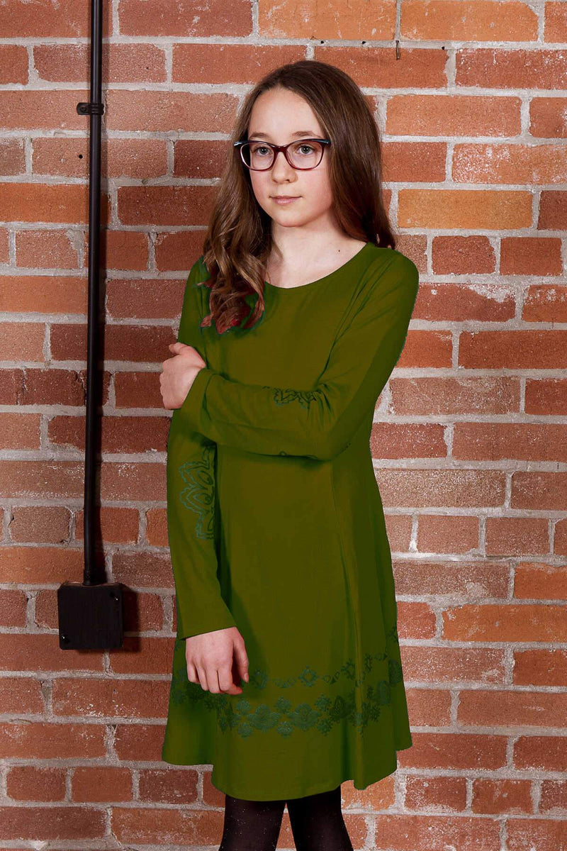 Promise  - Olive A-line Dress