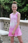River - PINK TIE DYE RUFFLE DRESS