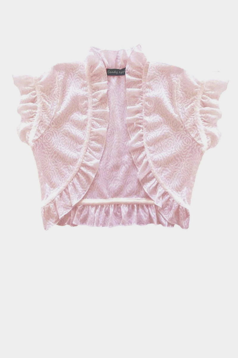 Ruffle Cardigan - Light Pink