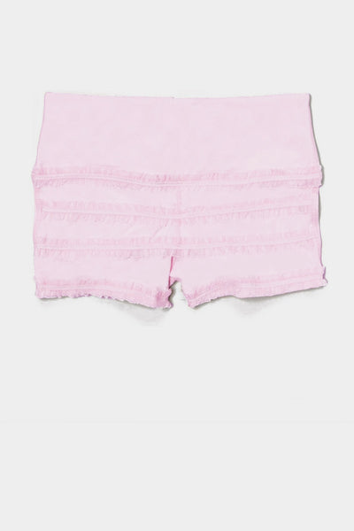 Ruffle Mini Shorts - Light Pink