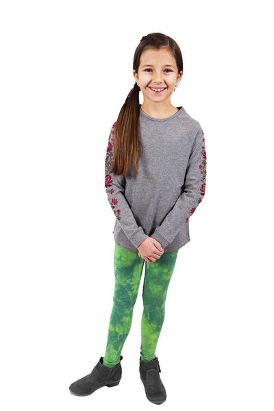 Rebecca Floral Top + Lime Tie Dye Legging Set